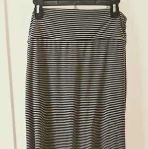 Long black and grey skirt